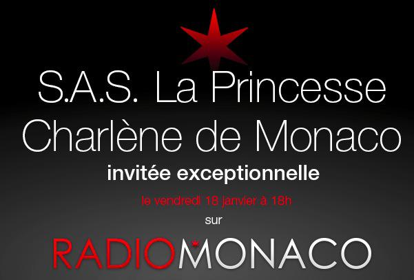s a s la princesse charl ne sur radio monaco news monaco ma ville chaines mc channel. Black Bedroom Furniture Sets. Home Design Ideas
