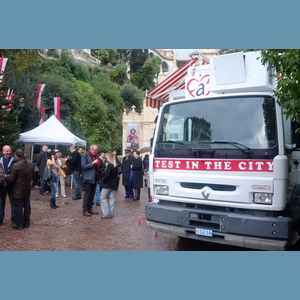 Test in the City, Place Sainte Dévote, 26 novembre 2012- fightaidsmonaco sur Monaco Channel - Video & News Monaco