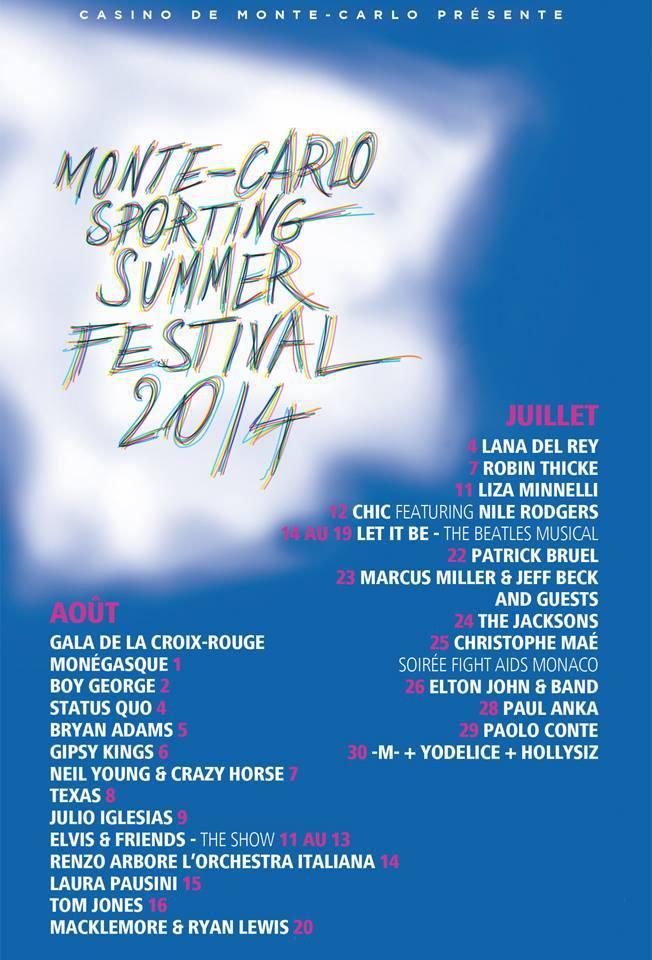 Tous les détails sont sur le site sportingsummerfestival.com