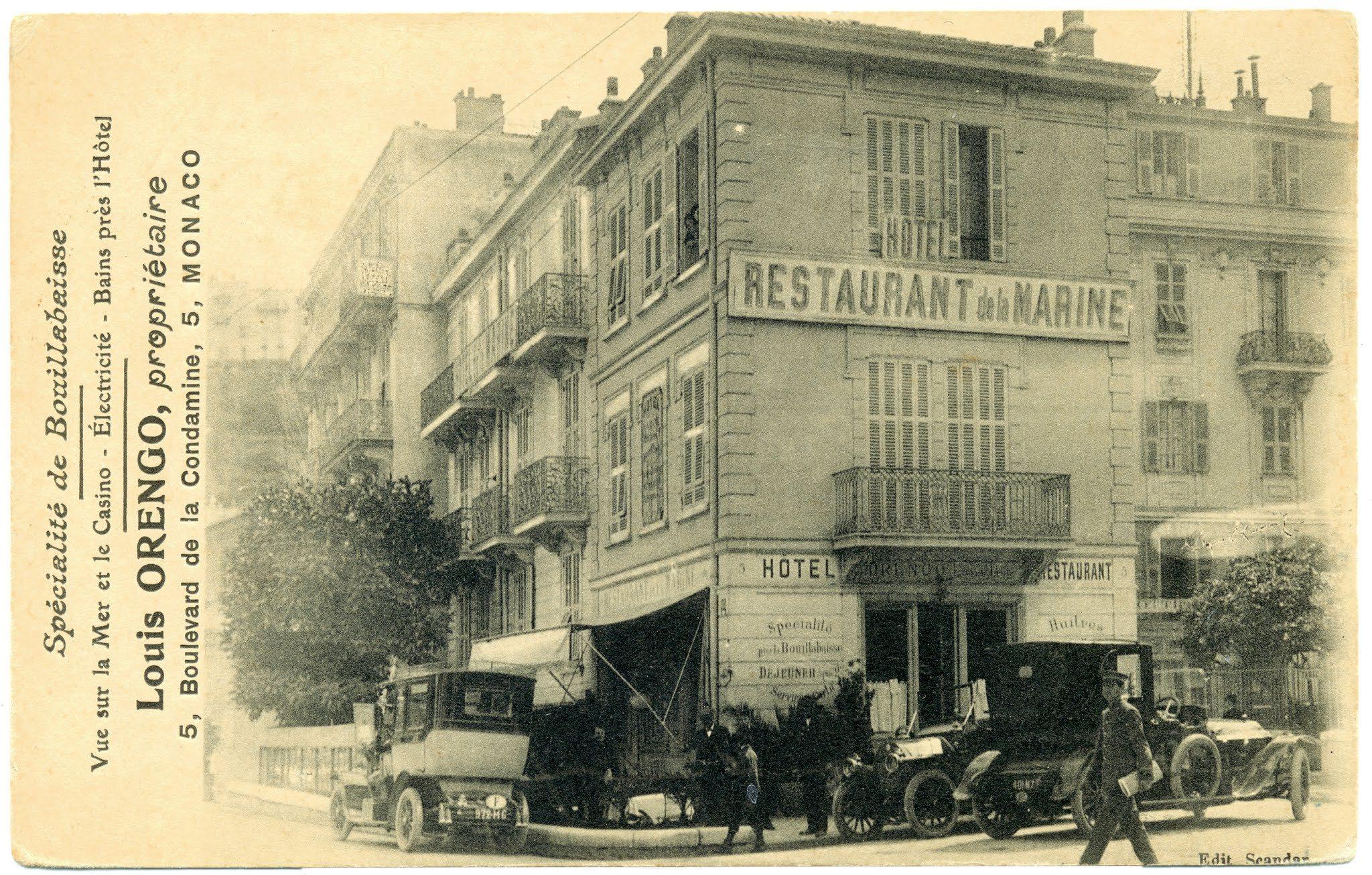 Monaco h tel restaurant de la marine la carte postale for Chaine hotel restaurant