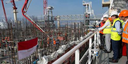 Urbanisation en mer la construction des caissons actus for Caisson maritime
