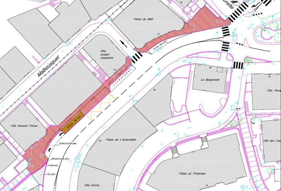 R fection et agrandissement des trottoirs bd du jardin for Boulevard du jardin exotique